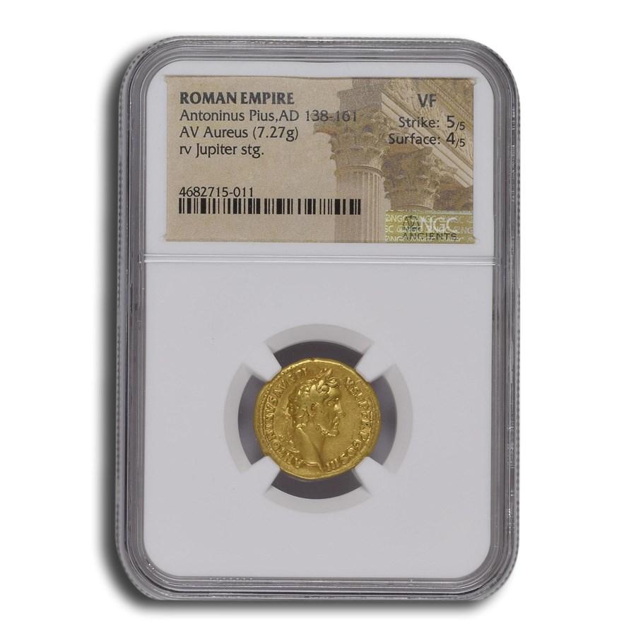 Rome AV Aureus Antoninus Pius (138-161 AD) VF NGC (RIC III 72a)