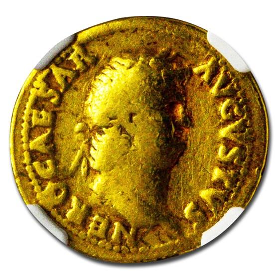 Rome AV Aureus Emperor Nero (54-68 AD) Fine NGC (RIC I 71)