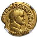 Rome AV Aureus Vespasian (69-79 AD) Fine NGC (RIC II 1111)