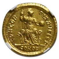 Rome AV Solidus Theodosius I (379-395 AD) AU NGC (RIC IX 64c)