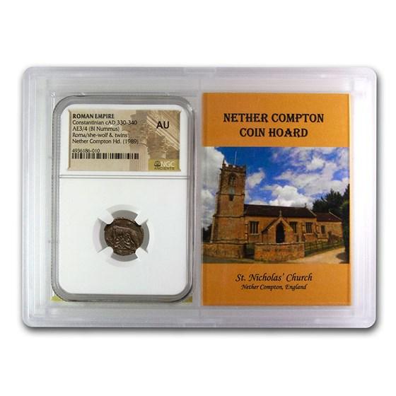 Rome BI Nummus Constantinian 330-40 AU NGC (Nether Compton Vault)