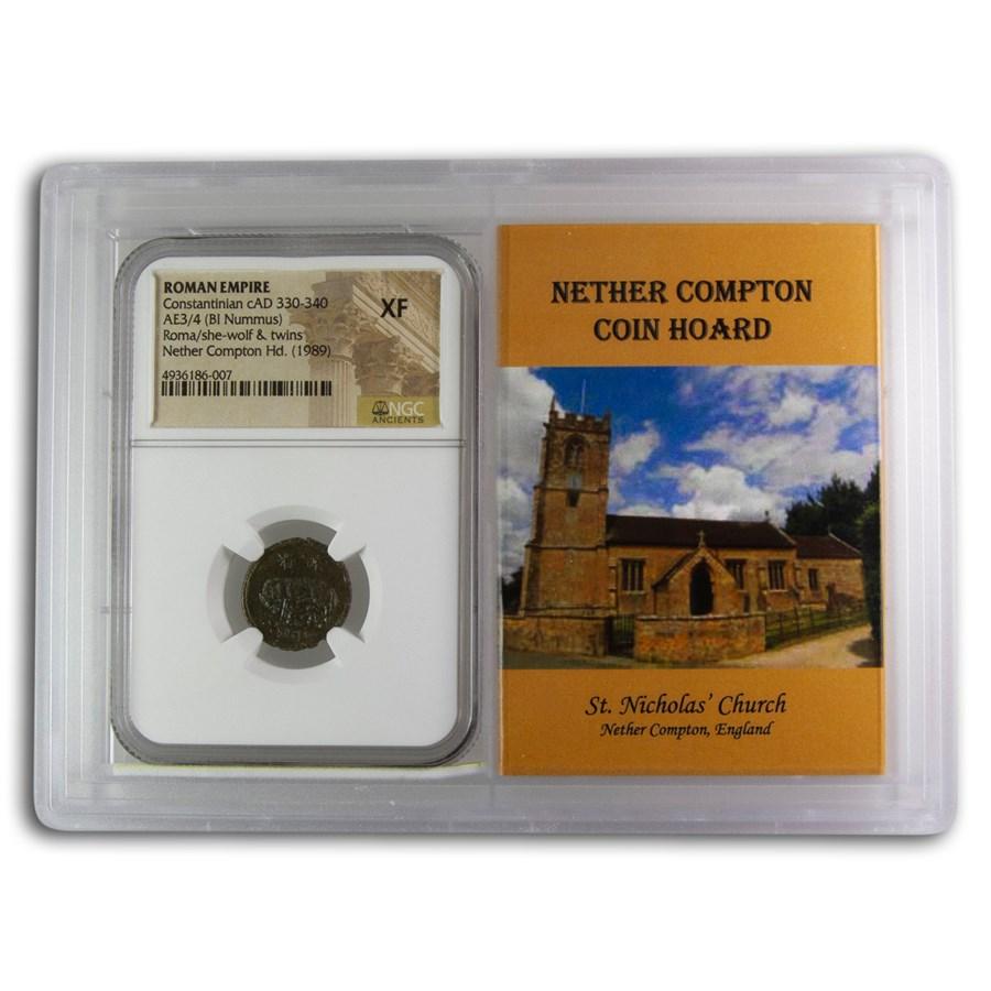 Rome BI Nummus Constantinian 330-40 XF NGC (Nether Compton Vault)