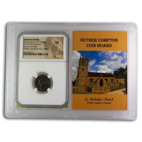 Rome BI Nummus Constantius II VF NGC (Nether Compton Vault)