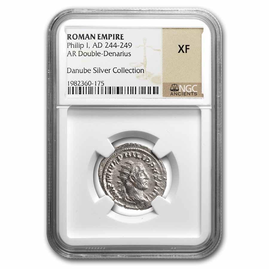 Rome Silver Dbl Denarius Philip I (244-249 AD) XF NGC RIC IV 44