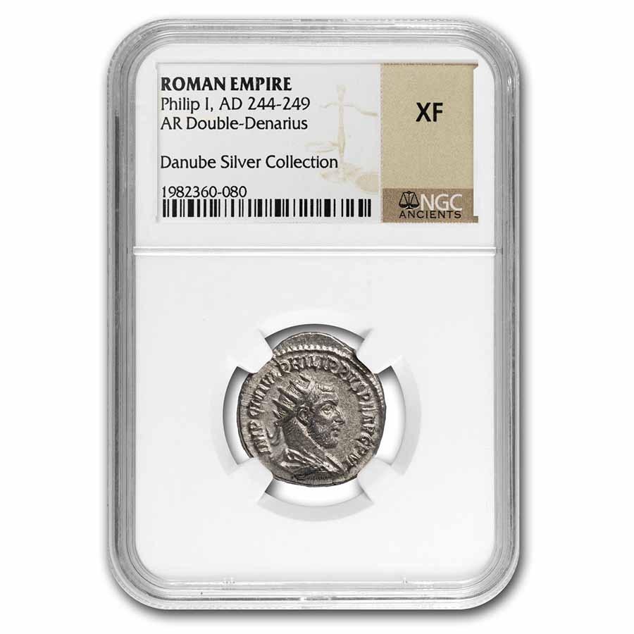 Rome Silver Dbl Denarius Philip I (244-249 AD) XF NGC RIC IV 71
