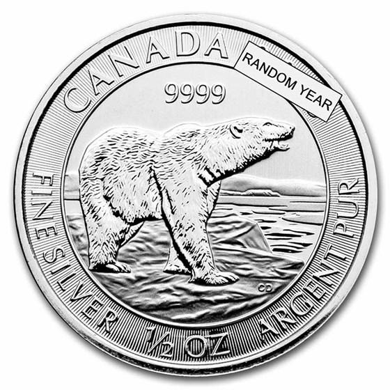 Royal Canadian Mint 1/2 oz Silver Wildlife Series (Random Year)