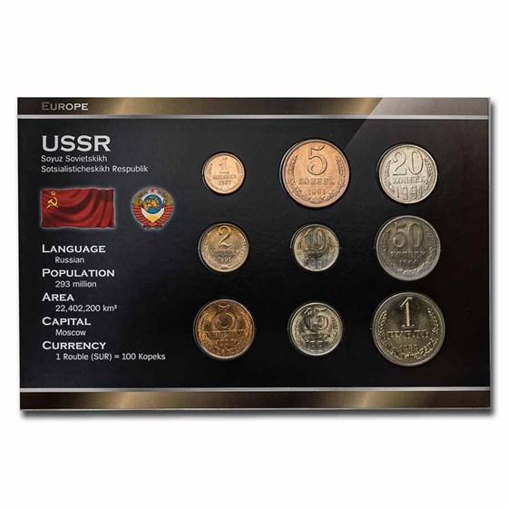 Russia USSR 9-Coin Set BU