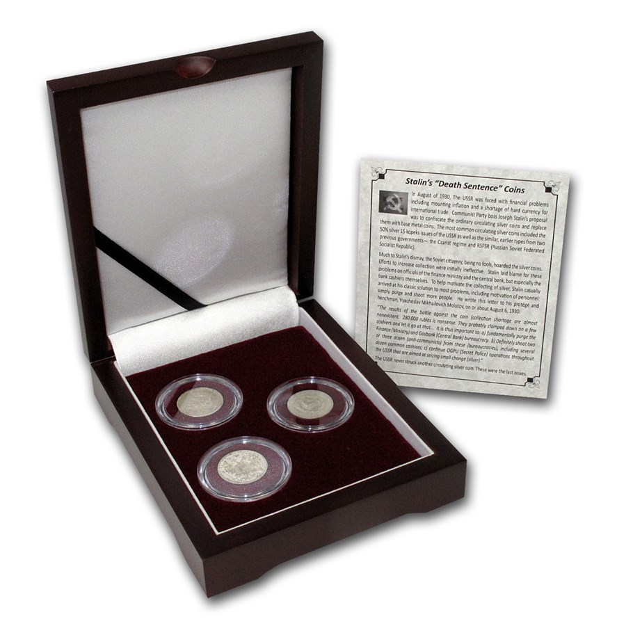 Russian 3-Coin Silver Kopek Transitional Set (0.1302 ASW)