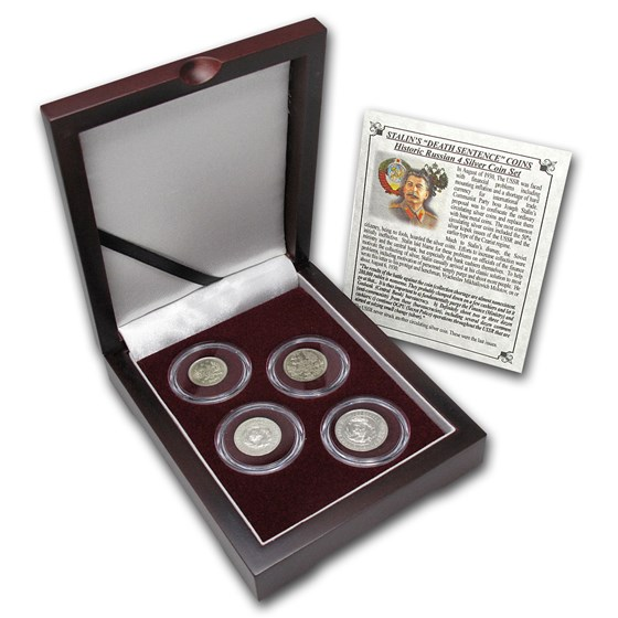 Russian 4-Coin Silver Kopek Transitional Set (0.1736 ASW)