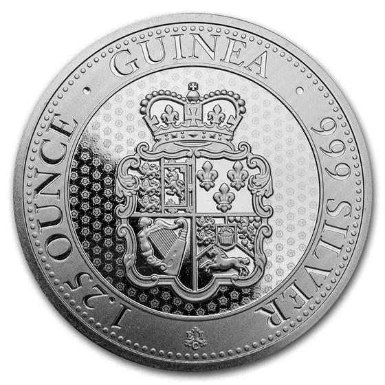 Saint Helena 1.25 oz Silver Rose Crown Guinea BU (Random Year)