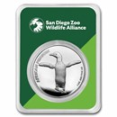 San Diego Zoo 1 oz Silver Round African Penguin in TEP