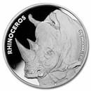 San Diego Zoo 1 oz Silver Round Rhinoceros