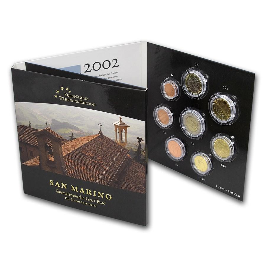 San Marino Lira-Euro Coin Set BU