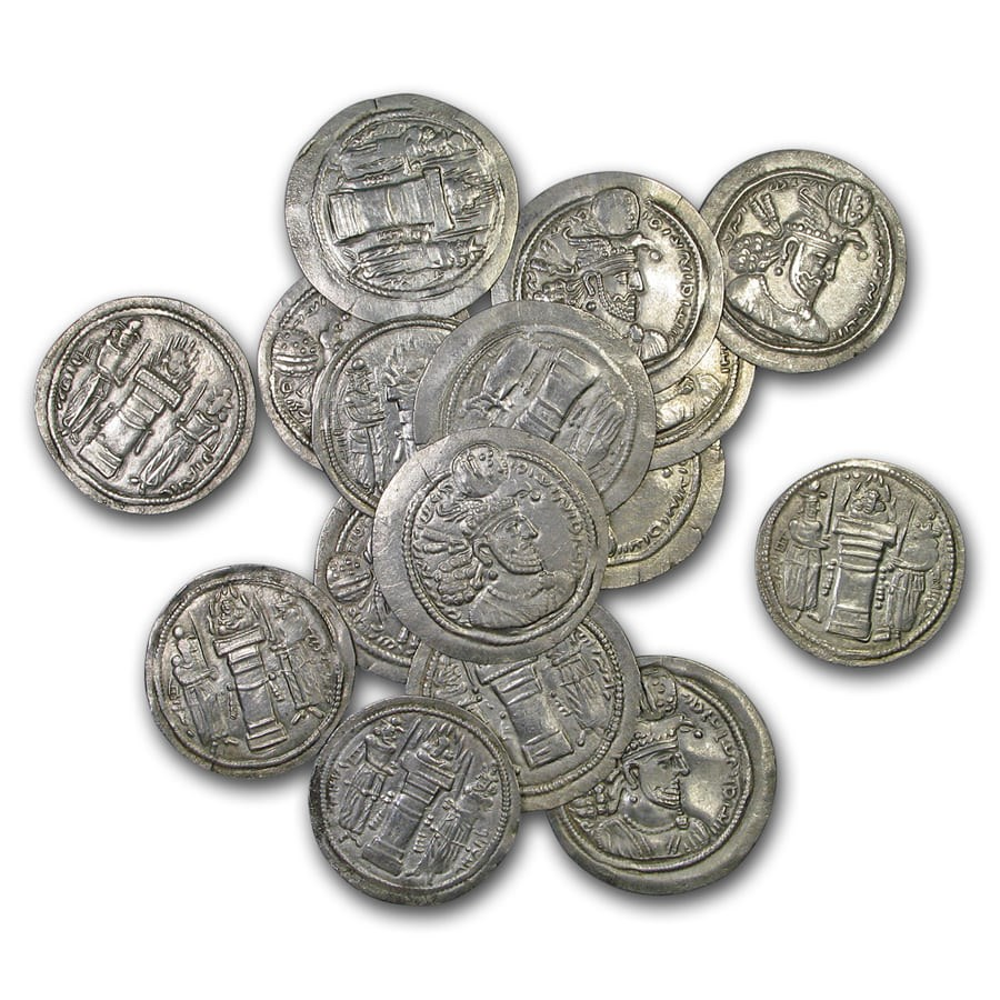 Sassanian Empire Silver Drachm Ohrmazd II (303-309 AD) XF