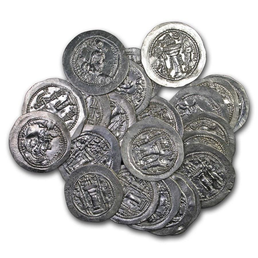 Sassanian Empire Silver Drachm Yazdgard (399-420 AD) XF
