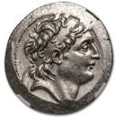 Seleucid Antiochos VII Tetradrachm (138-129 BC) MS NGC