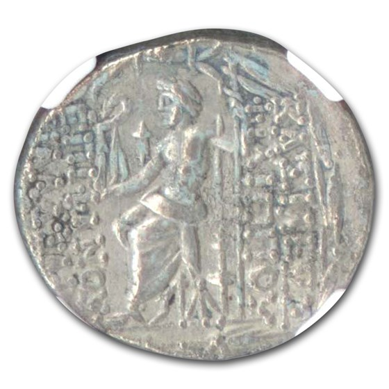 Seleucid Kingdom Philip I Silver Tetradrachm (95-75 BC) XF NGC