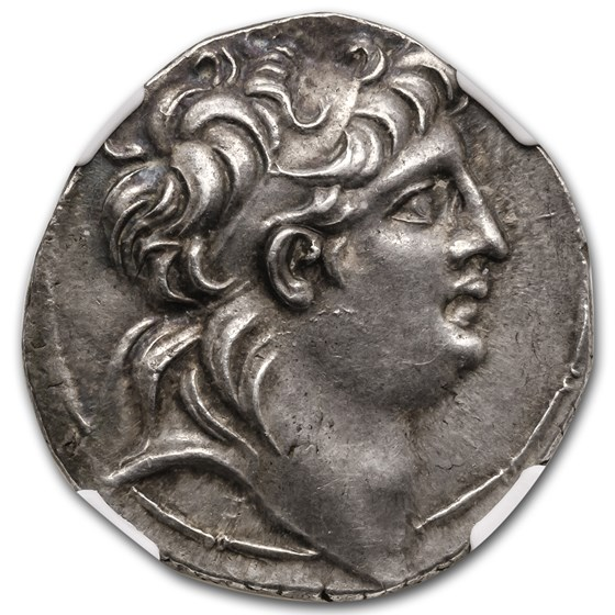 Seleucid Silver Tetradrachm Antiochus VII (138-129 BC) CH AU NGC
