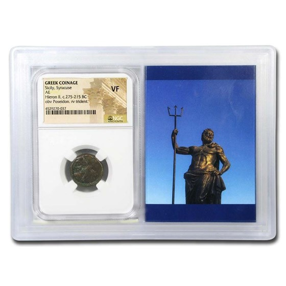 Sicily, Syracuse AE Unit (275-215 BC) VF NGC (Story Vault)