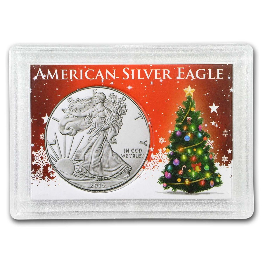 Silver American Eagle Harris Holder (Christmas Tree)