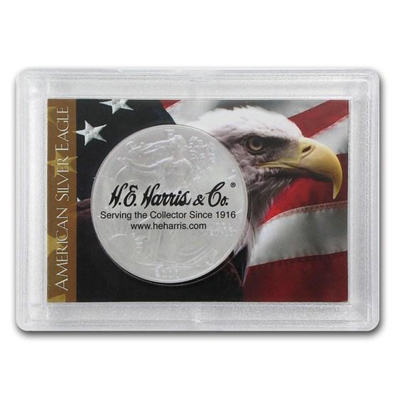 Silver American Eagle Harris Holder (Flag & Eagle Design)