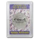 Silver American Eagle Harris Holder (Happy Birthday Design)