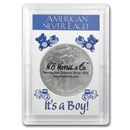 Silver American Eagle Harris Holder (It's A Boy! Design)