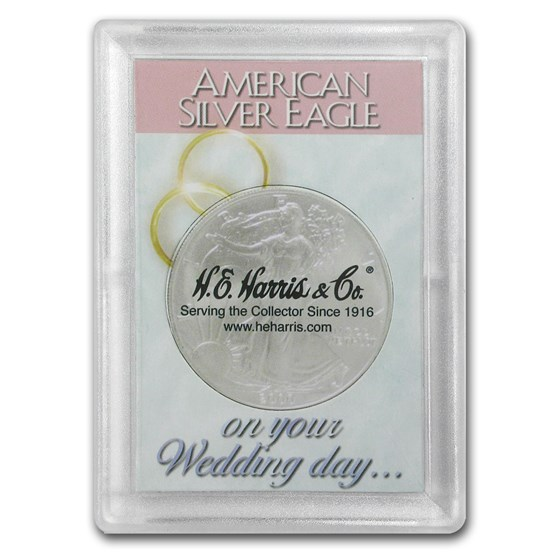Silver American Eagle Harris Holder (Wedding Day Design)