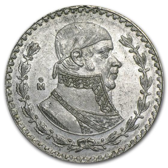 Silver Mexican 1 Peso (1957-1967) Avg Circ