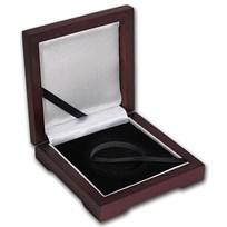 Single Coin Wood Presentation Box - Fits Up to 40 mm (Mahogany)