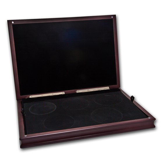 Single-Tier Wood Display Box for 5-Coin ATB sets
