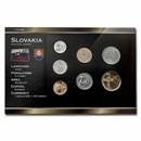 Slovakia Pre-Euro 7-Coin Set BU