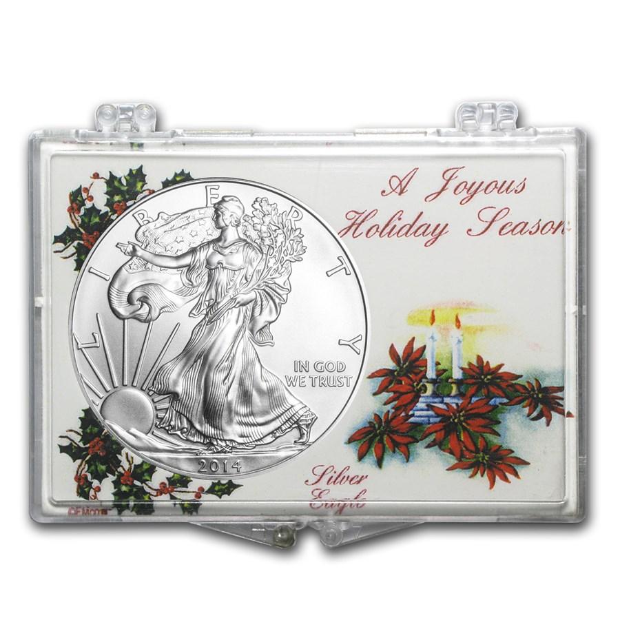 Snap-Lock Holder - A Joyous Holiday Season (Silver Eagle)