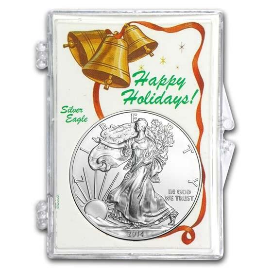 Snap-Lock Holder - Happy Holidays (Silver Eagle)