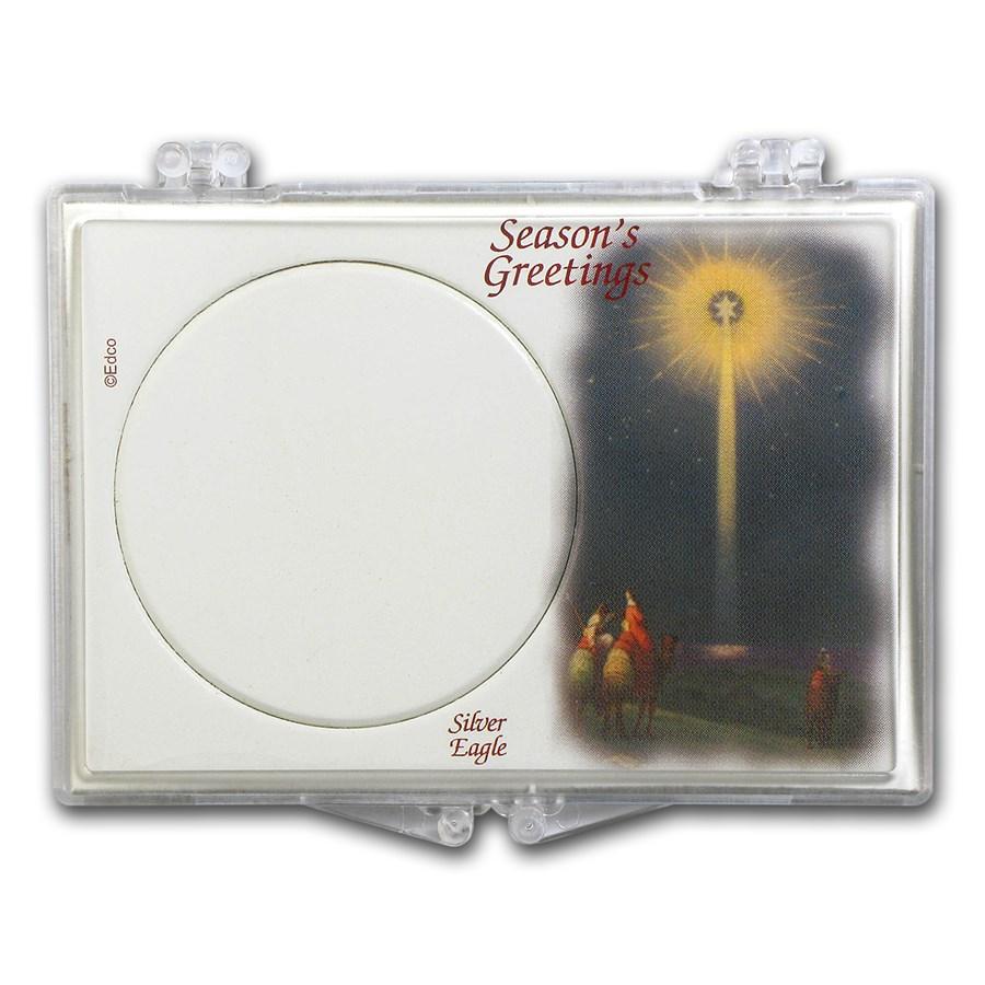 Snap-Lock Holder - Season's Greetings (Silver Eagle)