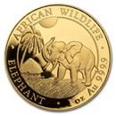 Somalia 1 oz Gold African Elephant (Random Year)