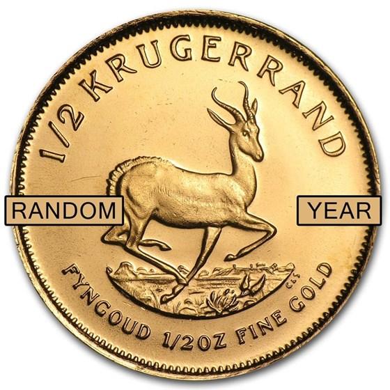 South Africa 1/2 oz Gold Krugerrand (Random Year)