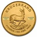 South African 1 oz Gold Krugerrand Coin BU (Random Year)
