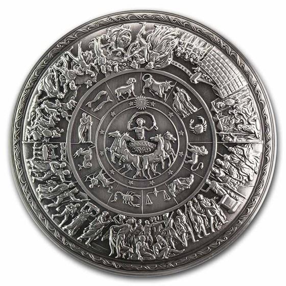 South Korea 2 oz Silver Achilles Ornate Shield Stacker