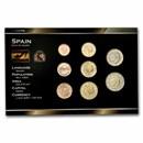 Spain 1 Cent-2 Euro 8-Coin Euro Set BU