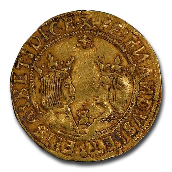 Spain Gold 2 Excelentes Ferdinand & Isab. (1469-1516) XF-40 PCGS