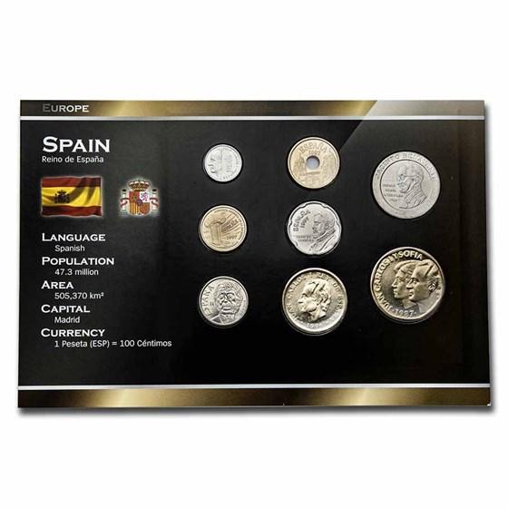 Spain Pre-Euro 8-Coin Set BU
