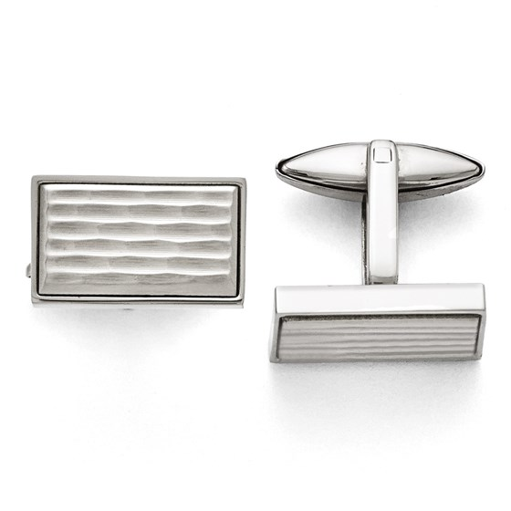 Stainless Steel Polished and Matte Cuff Links