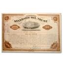 Standard Oil Trust signed by Rockefeller & Flagler Stock