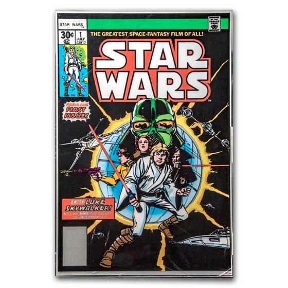 Star Wars Comic #1 April 1977 - 35 Gram Silver Poster