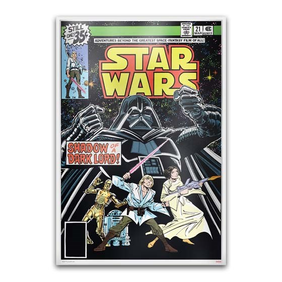 Star Wars Comic #21 March 1979 - 35 Gram Silver Poster