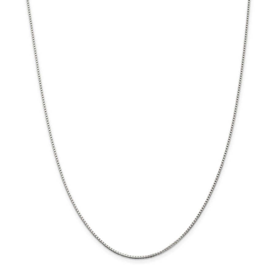 Sterling Silver 1.25 mm Box Chain - 30 in.