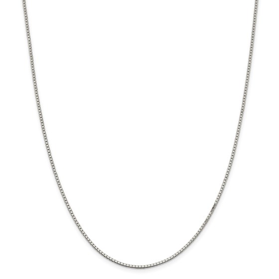 Sterling Silver 1.5 mm Box Chain - 24 in.