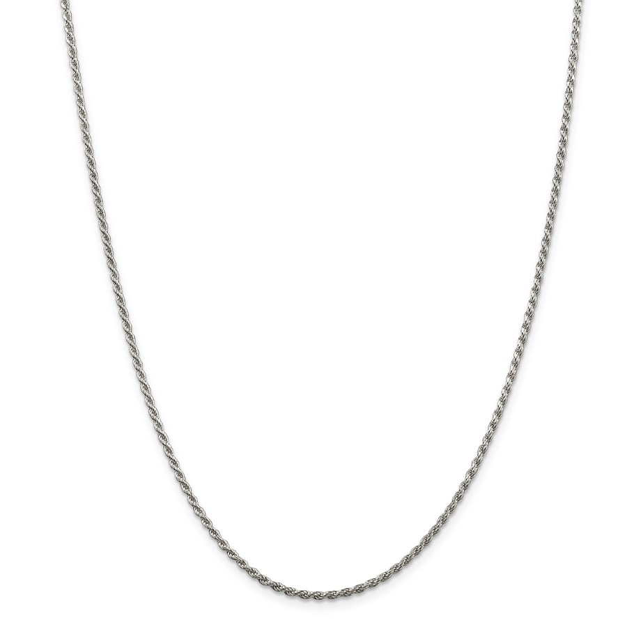 Sterling Silver 1.75 mm Diamond Cut Rope Chain - 30 in.
