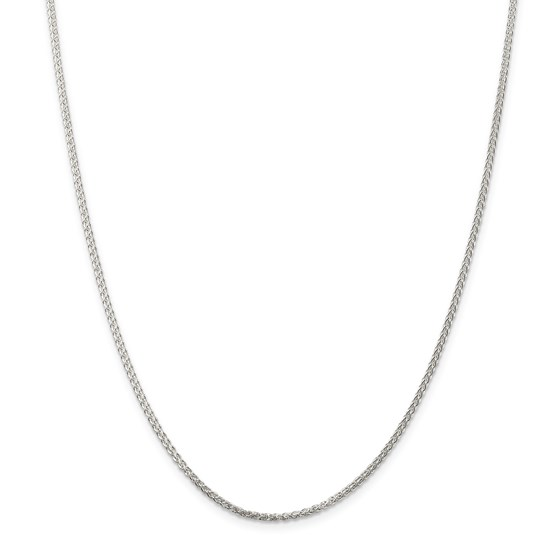 Sterling Silver 1.75 mm Round Spiga Chain - 24 in.